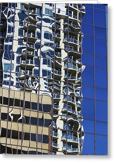 Greeting Card featuring the photograph Wiggly Balconies by Phyllis Denton