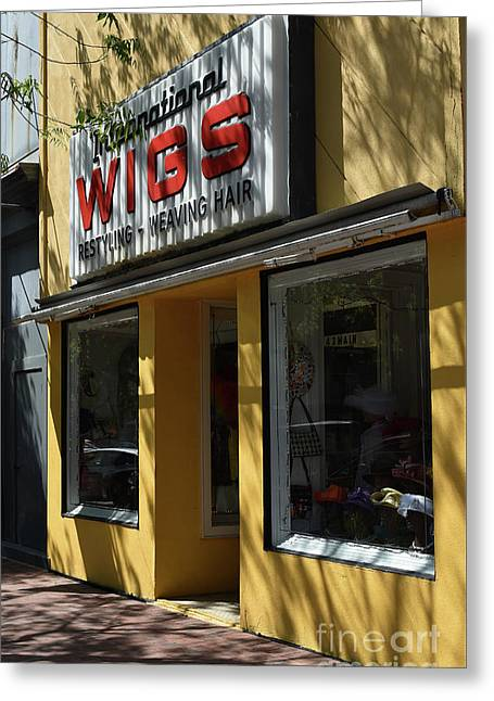 Greeting Card featuring the photograph Wigs by Skip Willits