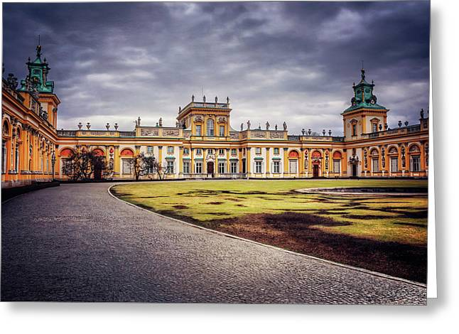 Greeting Card featuring the photograph Wilanow Palace In Warsaw  by Carol Japp