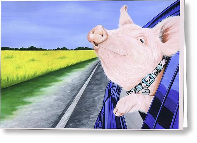 Wilbur 2 Greeting Card by Twyla Francois