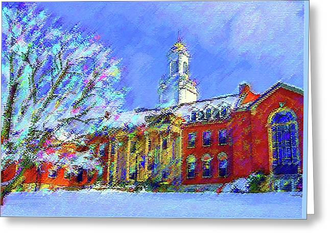 Wilbur Library  Uconn Greeting Card