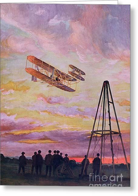Wilbur Wright In Flight Greeting Card