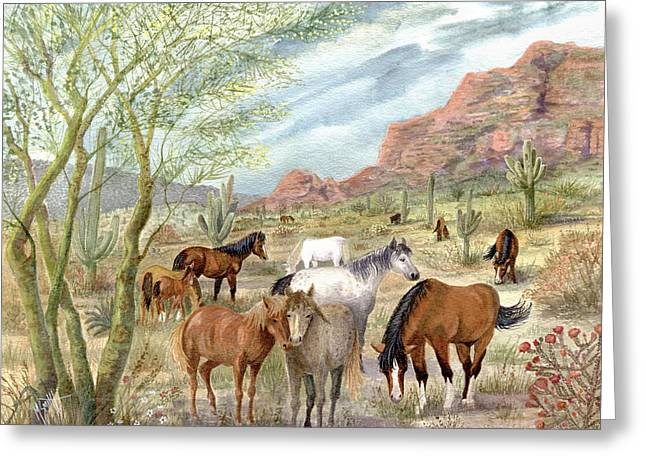 Wild And Free Forever Greeting Card by Marilyn Smith