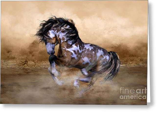 Wild And Free Horse Art Greeting Card