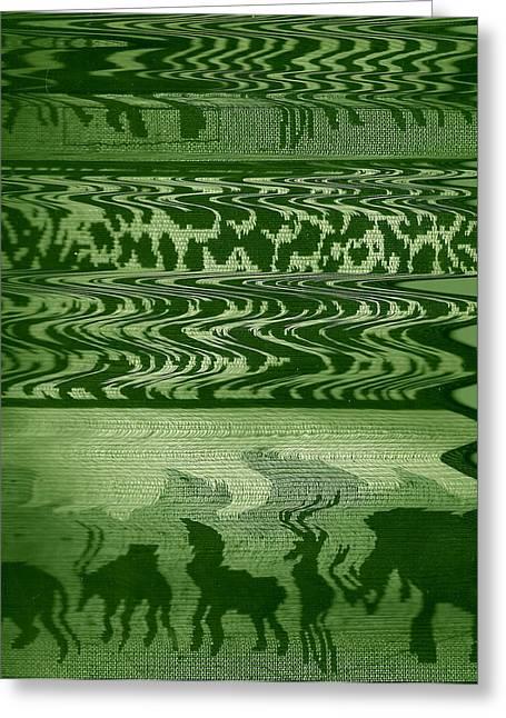 Wild  And Ziggy Animals In A Row  Greeting Card by Anne-Elizabeth Whiteway