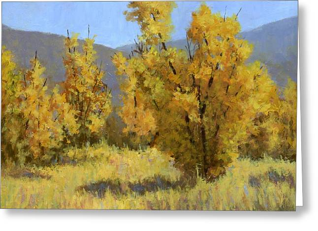 Greeting Card featuring the painting Wild Autumn by David King