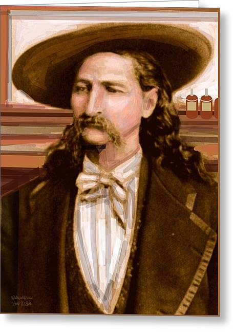 Wild Bill Hickok Greeting Card by Larry Lamb