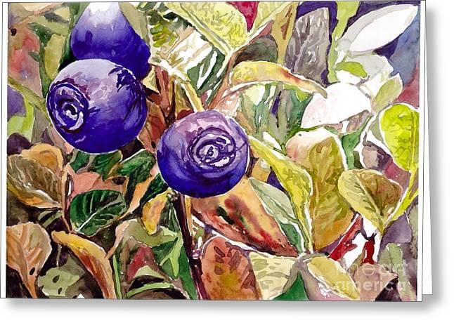 Wild Blueberries Greeting Card