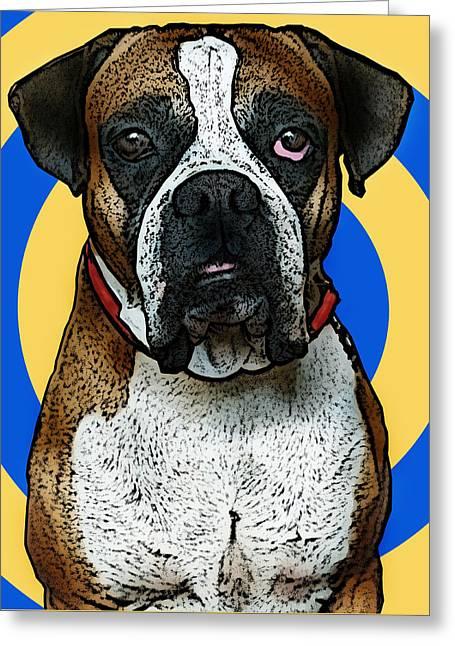 Wild Boxer 1 Greeting Card by Bibi Romer