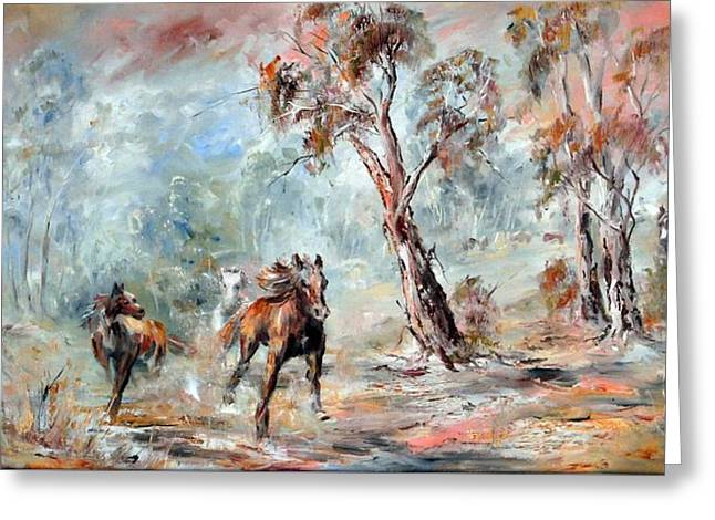 Wild Brumbies Greeting Card