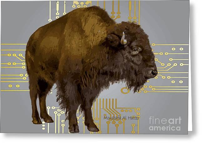 The American Buffalo Greeting Card