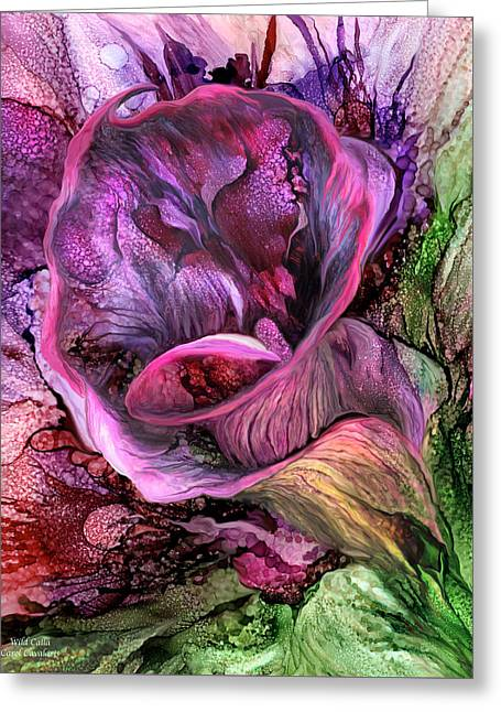 Wild Calla Greeting Card by Carol Cavalaris