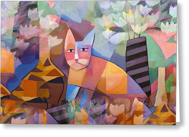 Wild Cats Greeting Cards - Wild Cat Blues Greeting Card by Lutz Baar