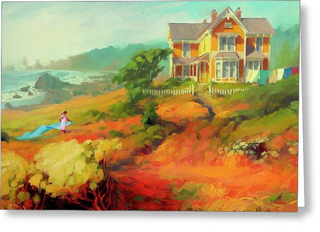 Greeting Card featuring the painting Wild Child by Steve Henderson