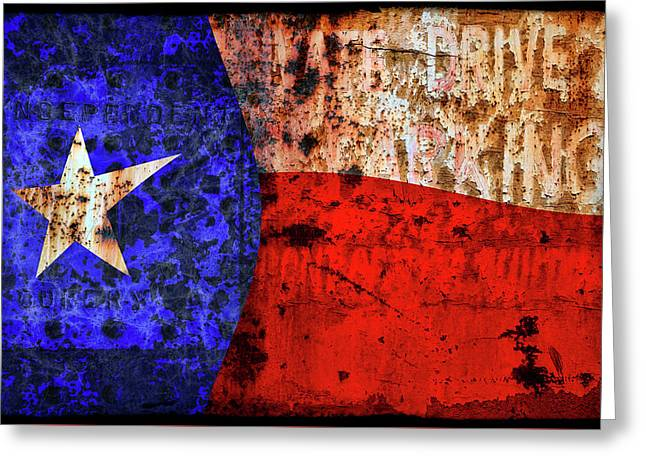 Wild Crazy Texas Flag Greeting Card