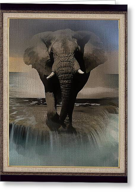 Wild Elephant Montage Greeting Card