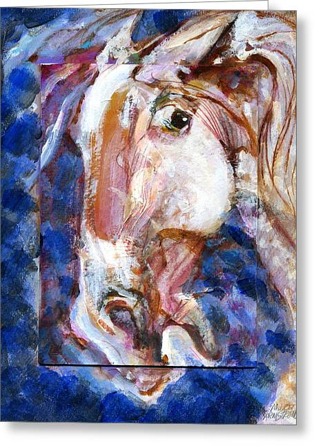 Greeting Card featuring the painting Wild Eye by Mary Armstrong
