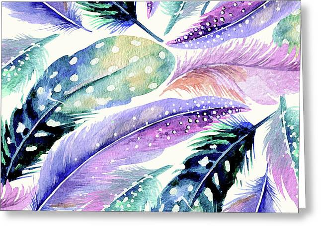 Wild Feathers Greeting Card