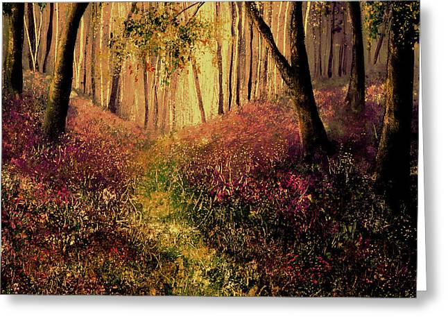 Wild Flower Forest Greeting Card by Ann Marie Bone