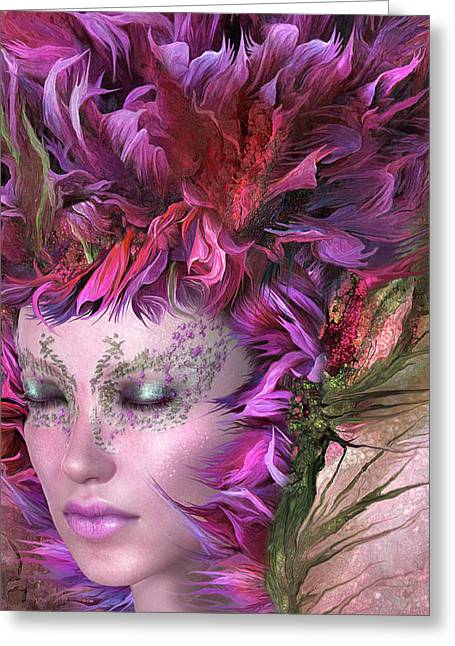 Wild Flower Goddess Greeting Card