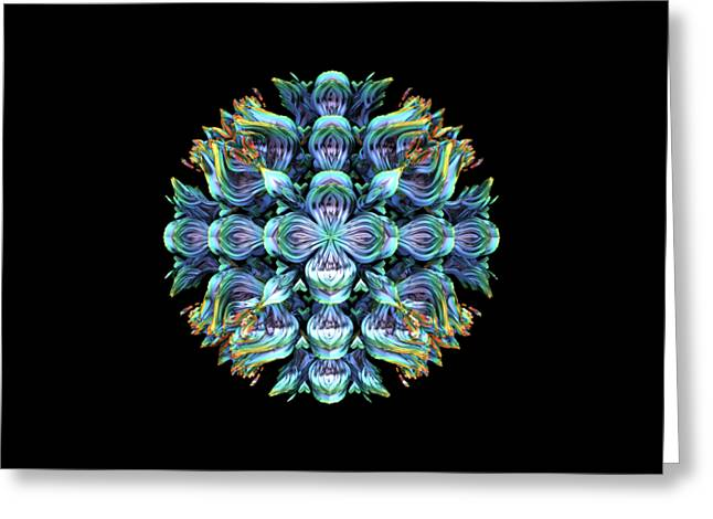 Greeting Card featuring the digital art Wild Flower by Lyle Hatch