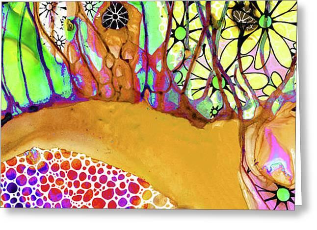 Wild Flowers Abstract Art - Sharon Cummings Greeting Card