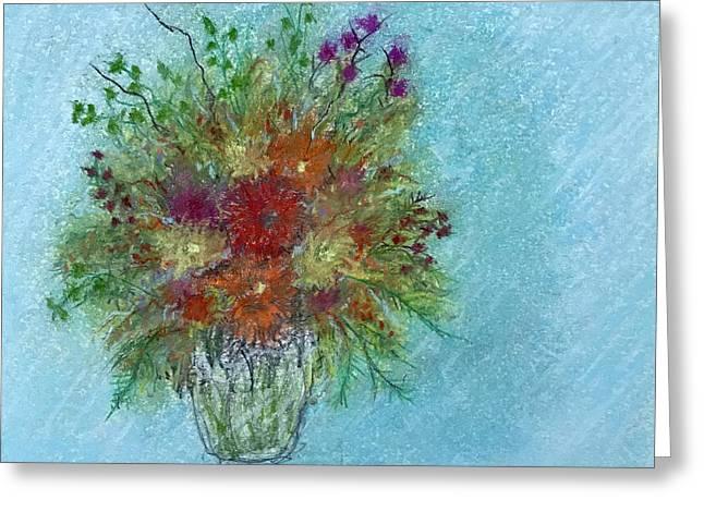 Wild Flowers Greeting Card by Harvey Rogosin