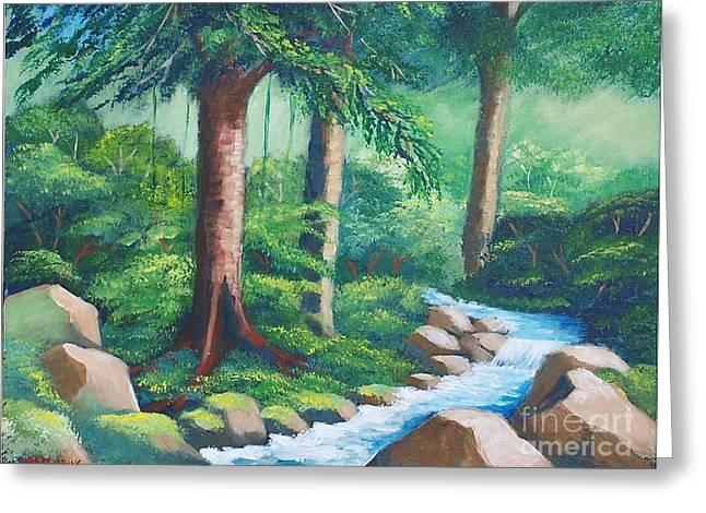 Wild Forest River Greeting Card