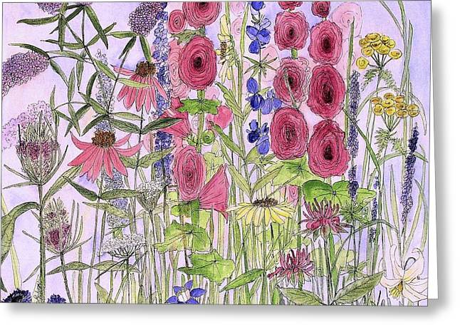Wild Garden Flowers Greeting Card