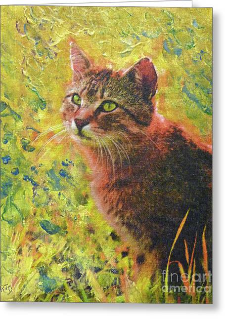 Wild Garden Tabby Greeting Card