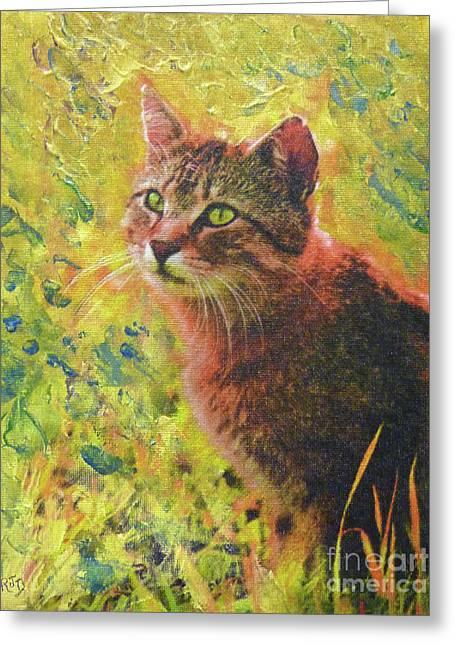 Wild Garden Tabby Greeting Card