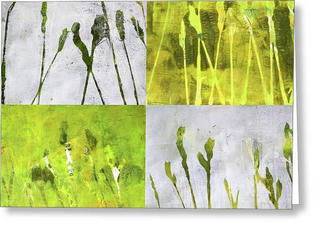 Wild Grass Collage 1 Greeting Card