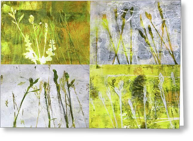 Wild Grass Collage 2 Greeting Card