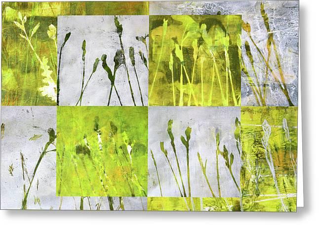 Wild Grass Collage 3 Greeting Card