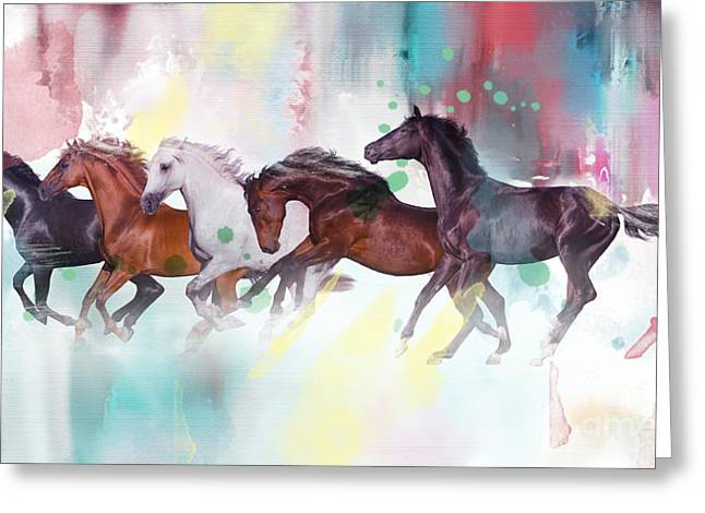 Wild Horse  Greeting Card by Mark Ashkenazi