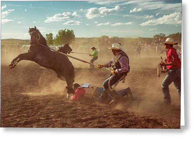 Wild Horse Race Greeting Card