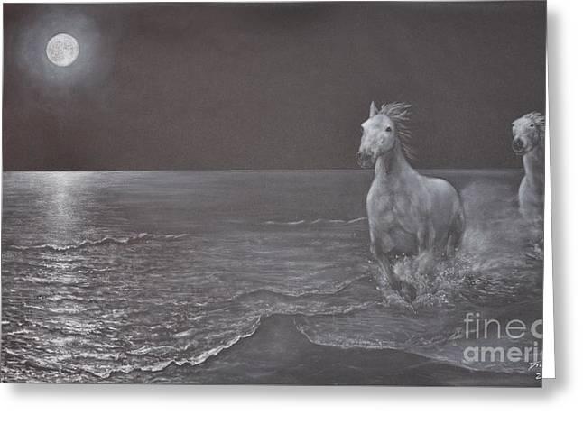 Wild Horses Greeting Card by David Swope