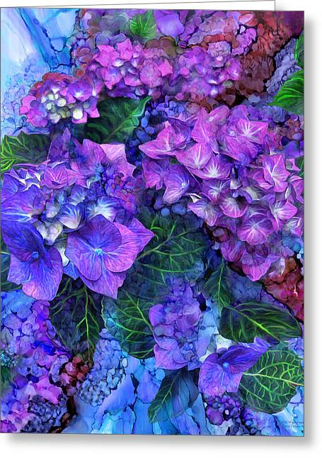 Wild Hydrangeas Greeting Card