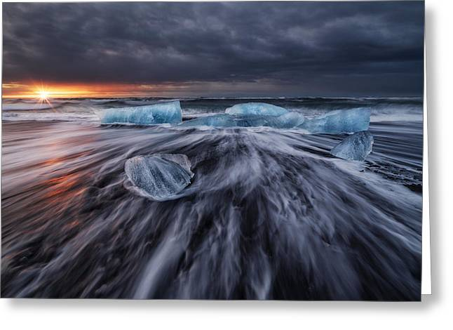 Wild Ice V Greeting Card by Juan Pablo De