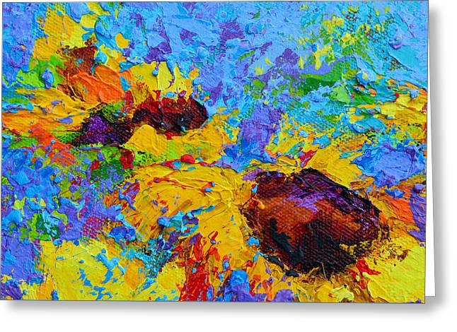 Wild Joy - Modern Impressionist Artwork Colorful Palette Knife Work Greeting Card by Patricia Awapara