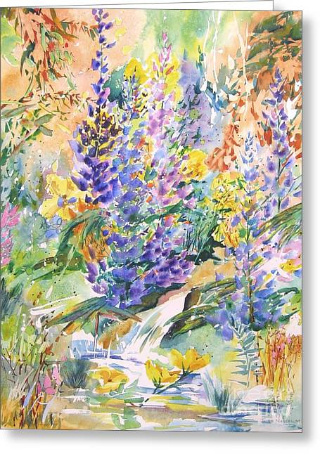 Wild Lupines Greeting Card