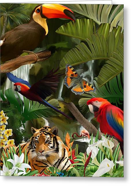 Greeting Card featuring the digital art Wild by Mark Taylor