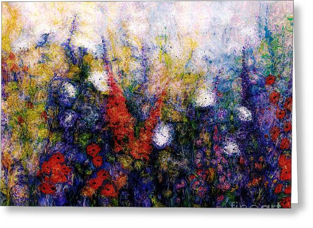 Wild Meadow Flowers Greeting Card by Claire Bull