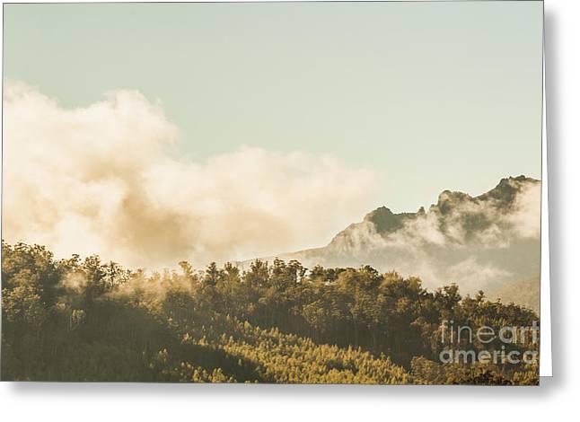 Wild Morning Peak Greeting Card