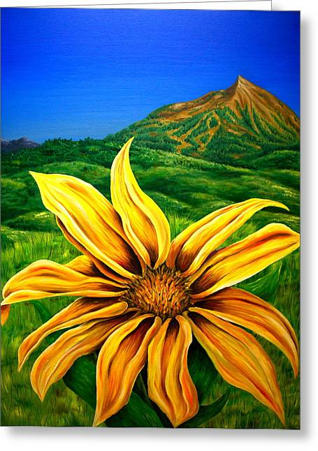 Wild Mountain Flower Greeting Card