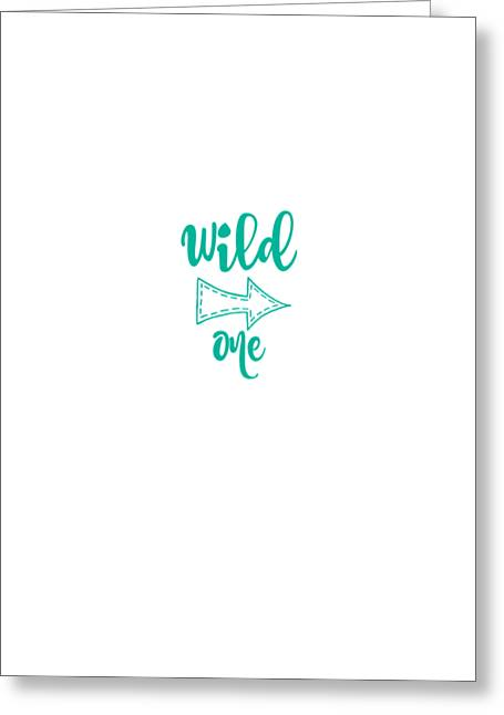 Wild One In Marine Greeting Card by Chastity Hoff