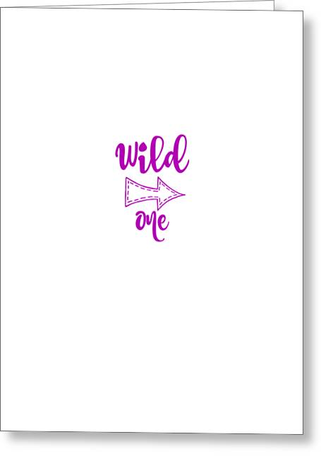 Wild One In Violet Greeting Card by Chastity Hoff