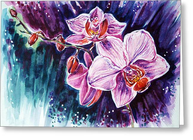 Wild Orchid Greeting Card by Katreen Queen