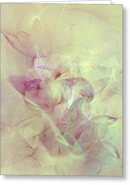 Wild Orchids Abstract Greeting Card by Georgiana Romanovna