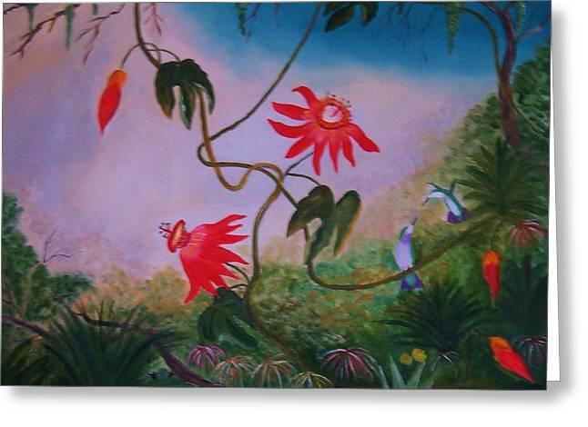 Wild Orchids Greeting Card by Alanna Hug-McAnnally